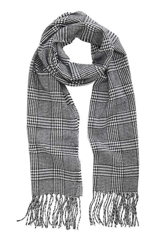 Cellbes Rutig scarf Svart Vit