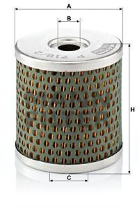 Polttoainesuodatin MANN-FILTER P 718/2 x