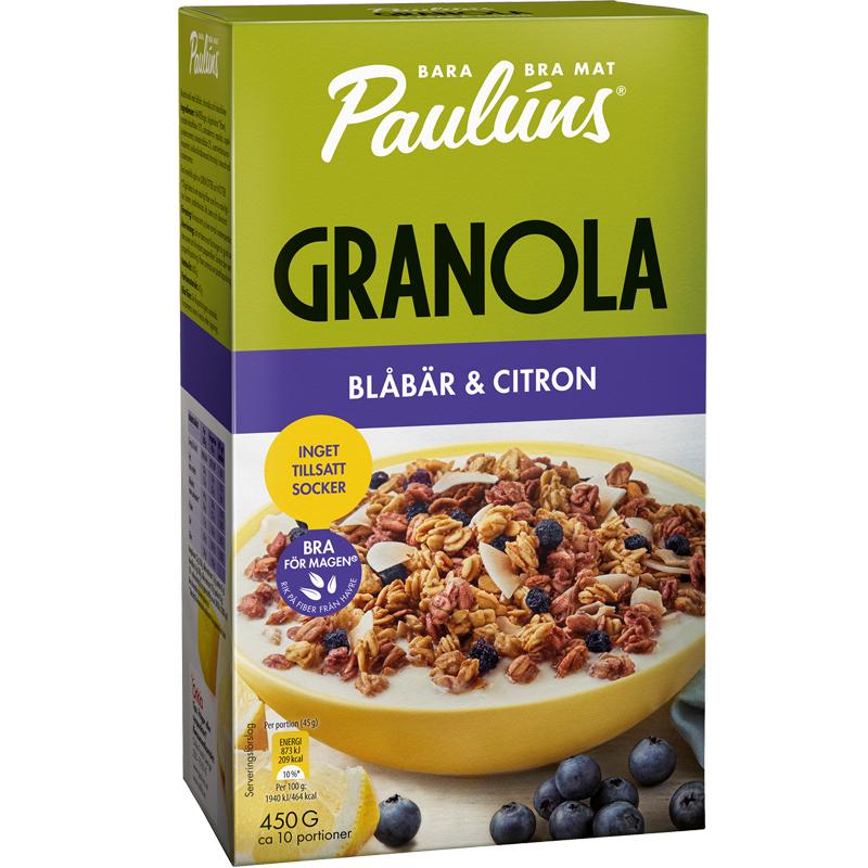 Granola Blåbär & Citron - 24% rabatt