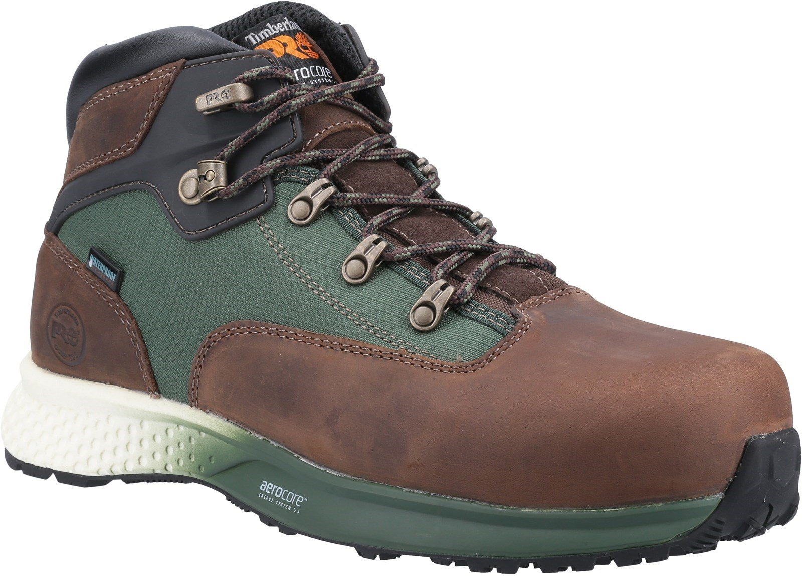 Timberland Pro Unisex Euro Hiker Composite Safety Boot Various Colours 32727 - Brown/Green 6