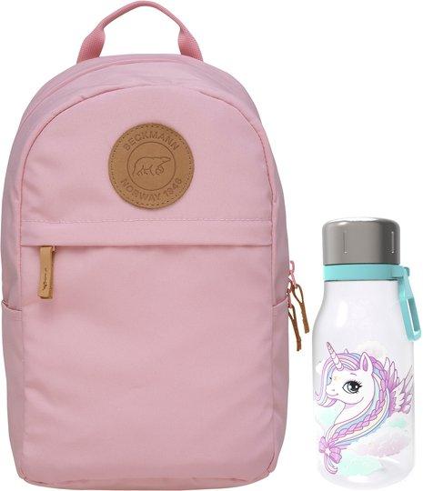 Beckmann Ryggsekk Mini Urban 10L & Flaske, Light Pink