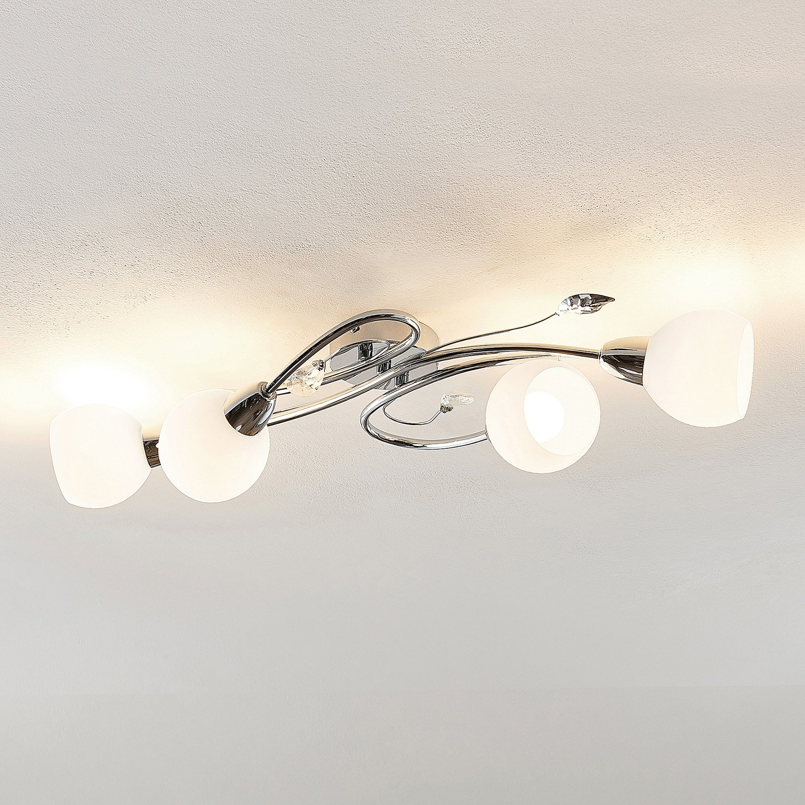 Lindby Taraneh taklampe med 4 lyskilder