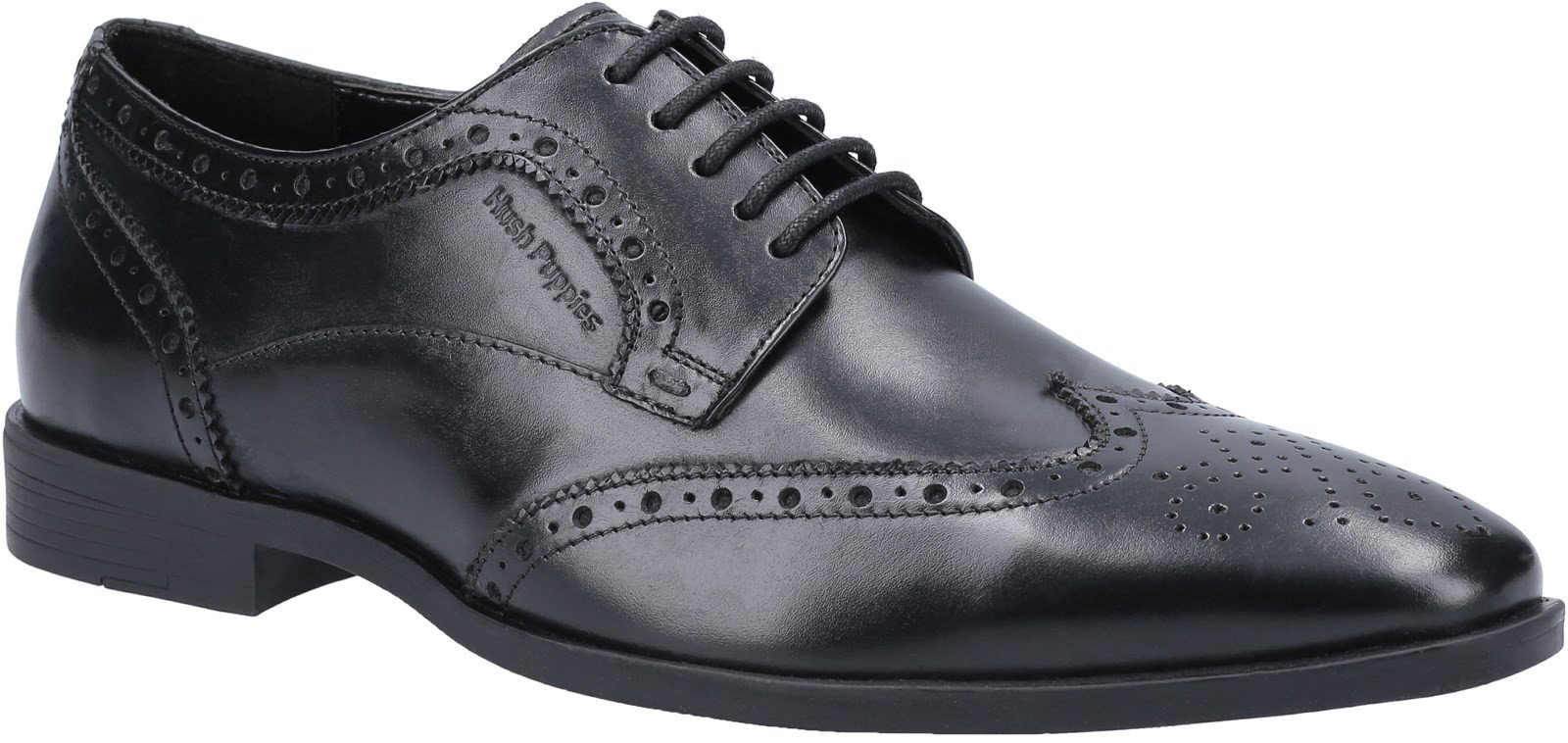 Hush Puppies Men's Elliot School Brogue Shoe Black 30814 - Black 6