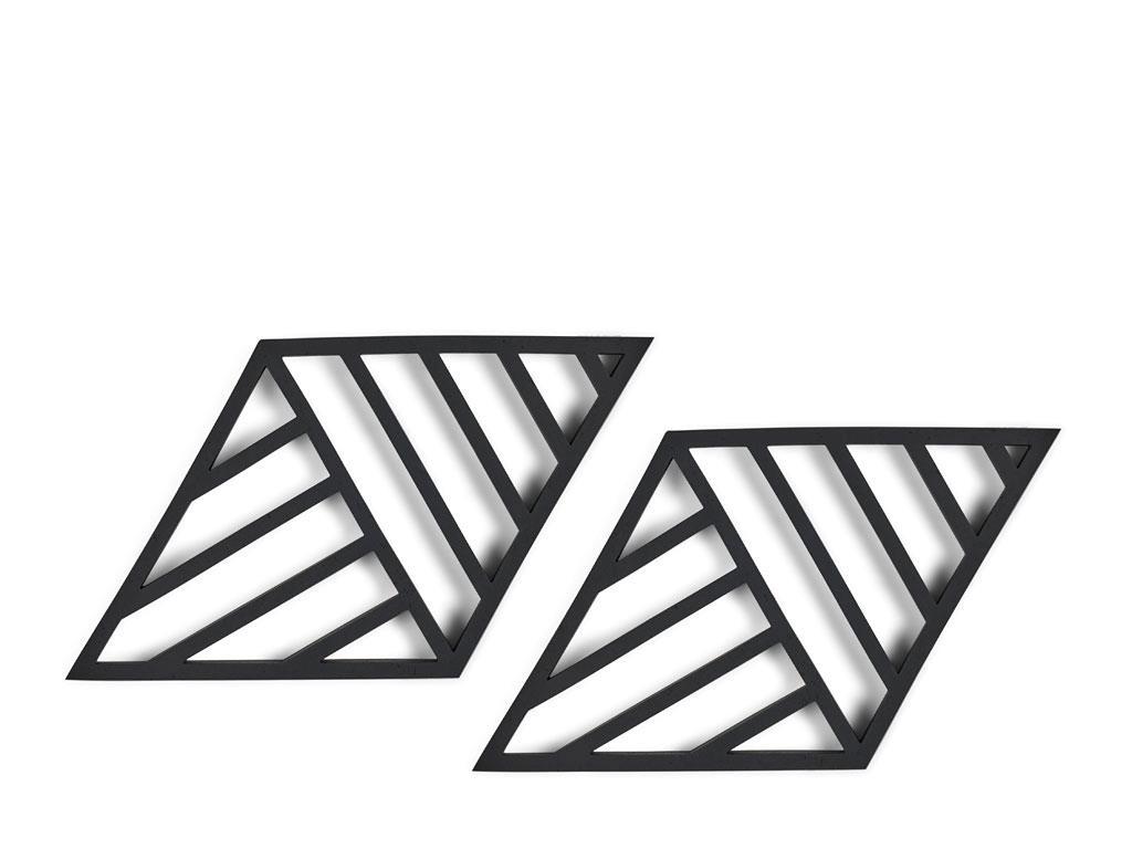 Zone - Rhombus Lines Trivet 2 Pack - Black (332146)