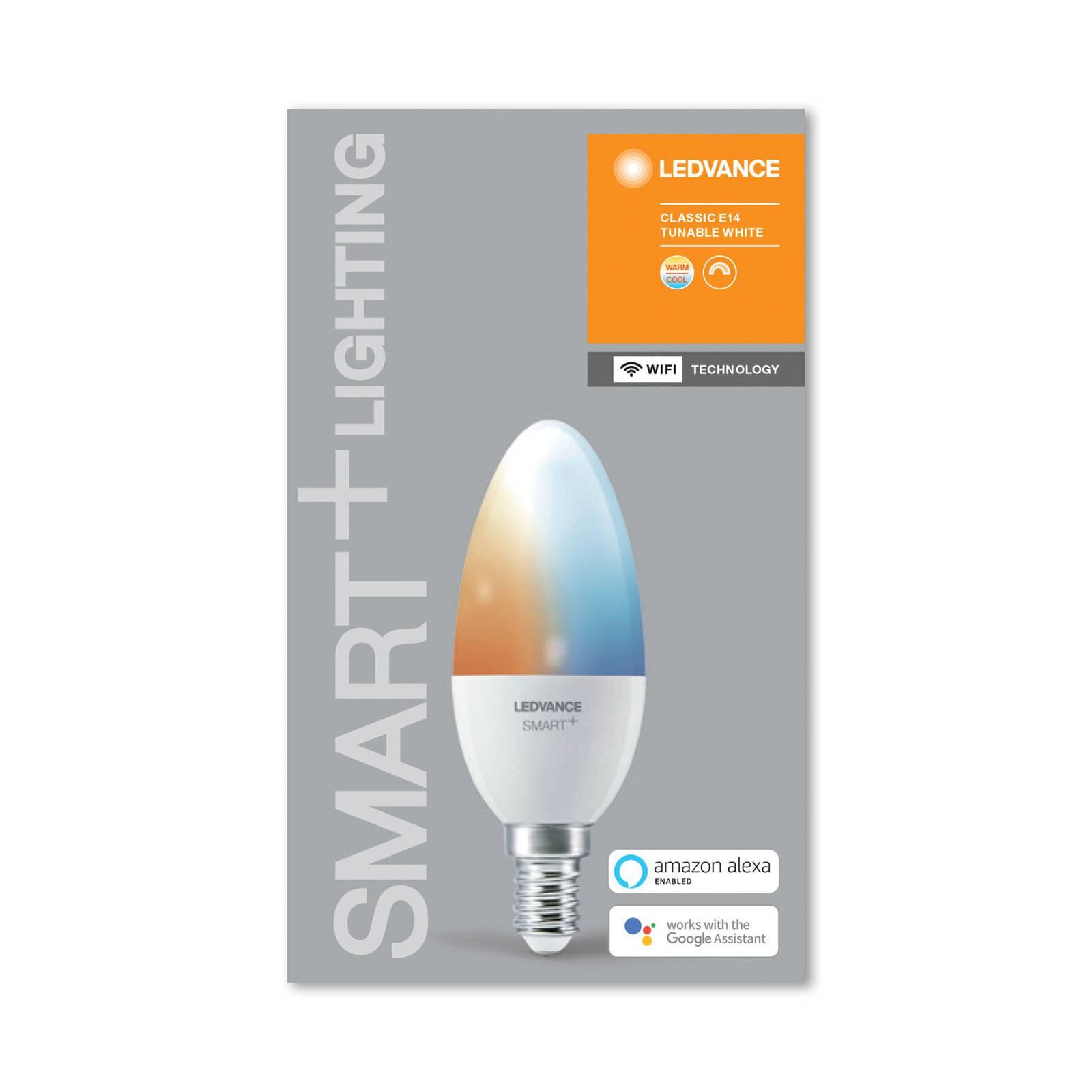 LEDVANCE SMART+ WiFi E14 5W kynttilä 2 700–6 500 K