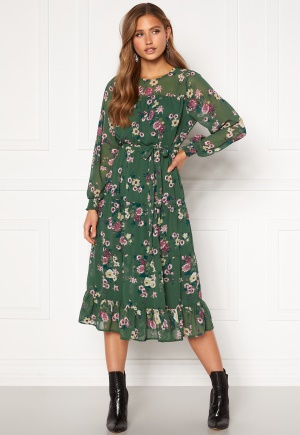 Happy Holly Marcella dress Green / Patterned 32/34