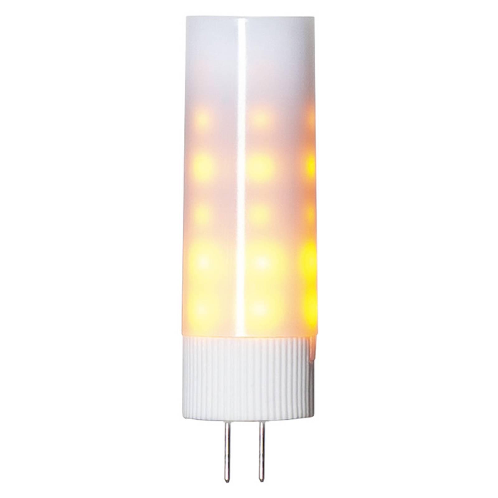 Kaksikantainen LED-lamppu G4 1 200 K Flame lamp
