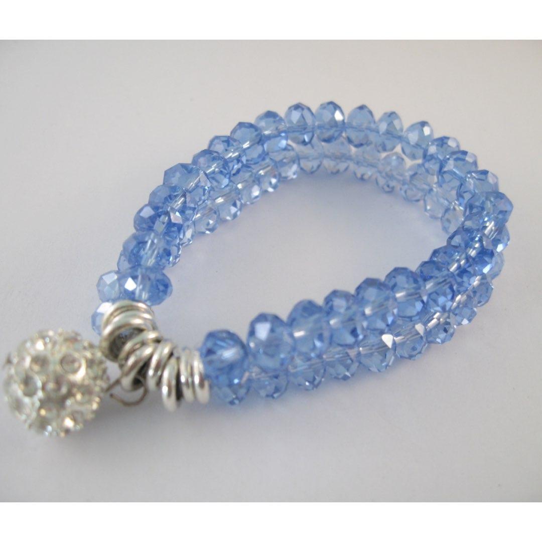 Armband i kristall - Blå