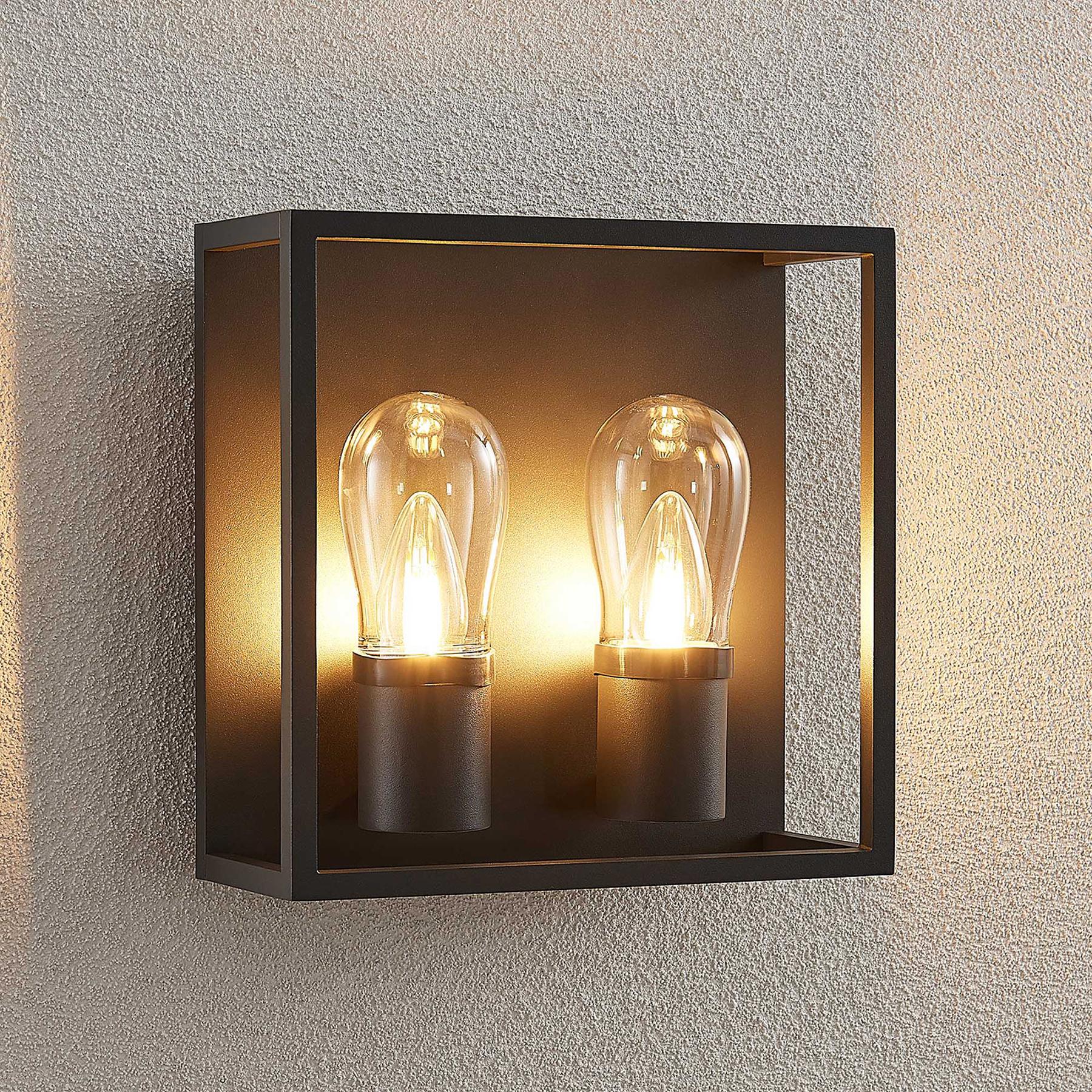Lucande Irmgart -ulkoseinävalaisin, 2-lamppuinen