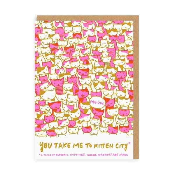Kitten City Greeting Card