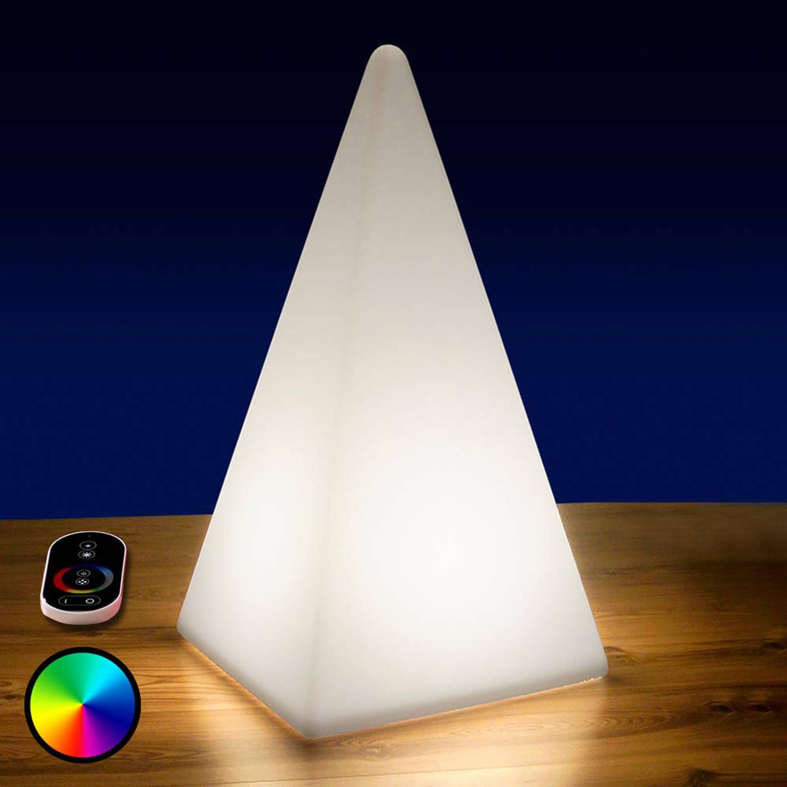 Akkukäyttöinen RGB-LED-pyramidi, 73 cm