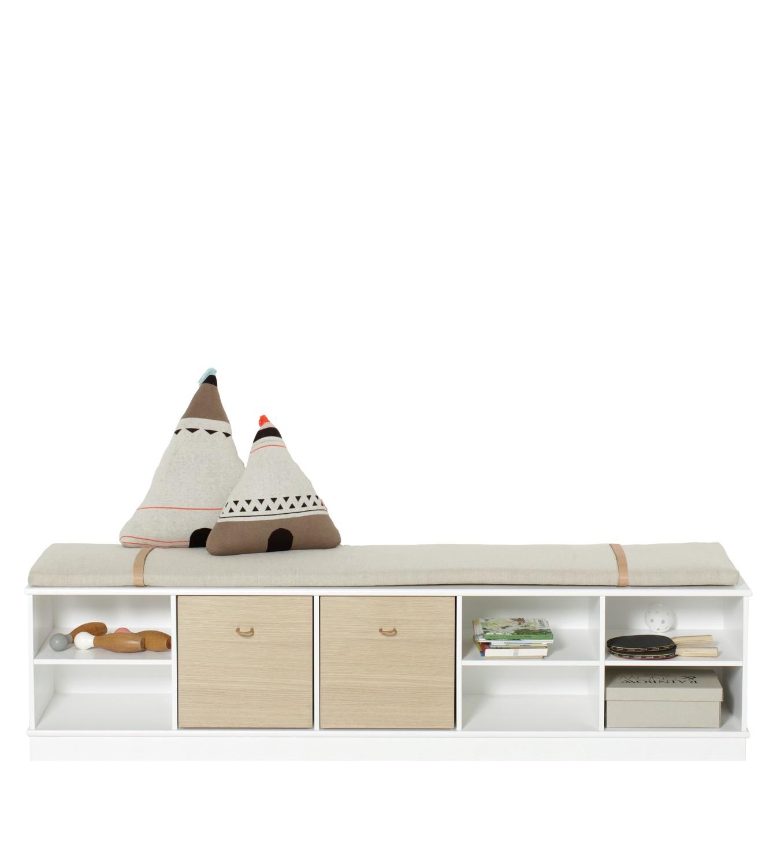 Wood horisontal hylla 5 x 1 sockel, Oliver Furniture