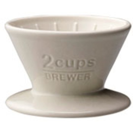 Kinto SCS-02-BR brewer 2cups white