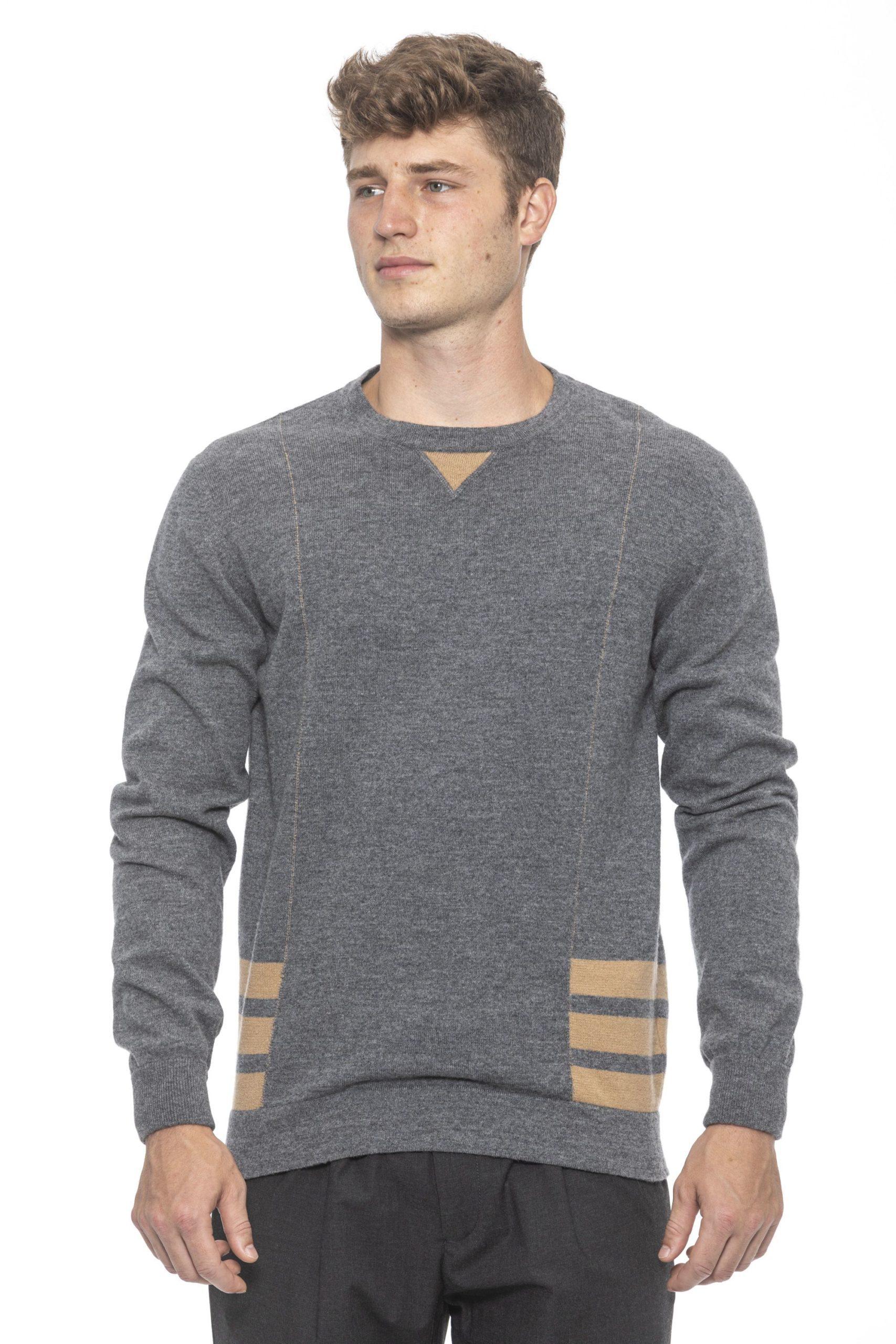 Alpha Studio Men's Grigio Sweater Gray AL1191968 - IT50 | L