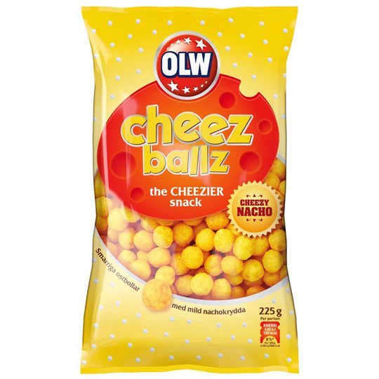 "Snacks ""Cheez Ballz"" 225 g - 35% alennus"