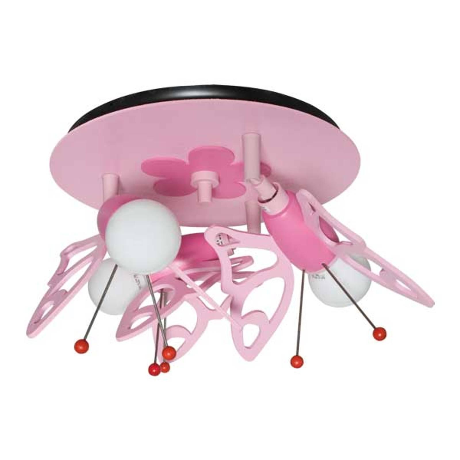 Lastenhuoneen Perhoset-kattovalaisin, 3-lamppuinen