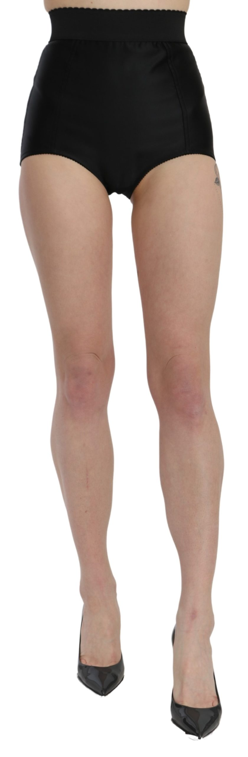 Dolce & Gabbana Women's High Waist Mini Hot Pants Nylon Shorts Black SKI1441 - IT36   XS