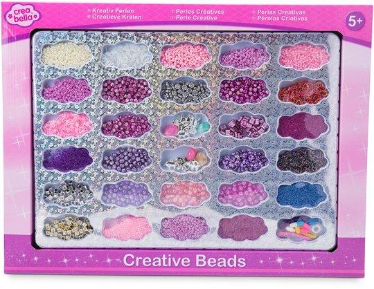 Crea Bella Creative Beads Stort Perlesett, Sølv