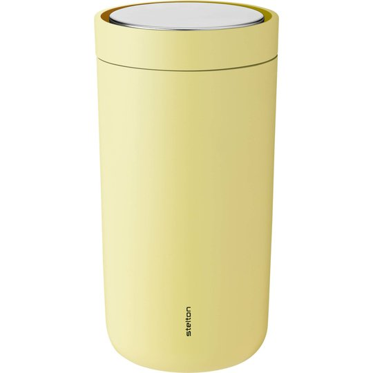 Stelton To Go Click termoskopp 0,2 liter, gul