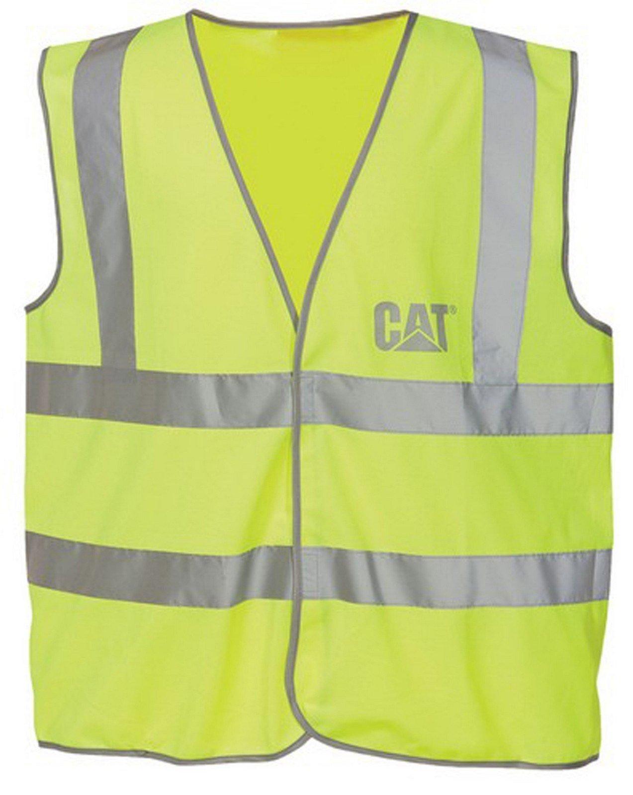 Caterpillar Unisex Printed Hi-Vis Top Green 20766 - Hi-Vis Yellow Lge
