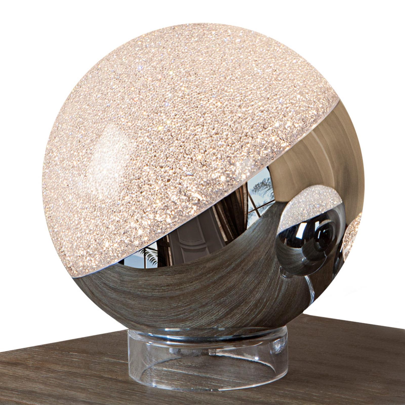 Sphere-LED-pöytälamppu, kromia, Ø 20 cm