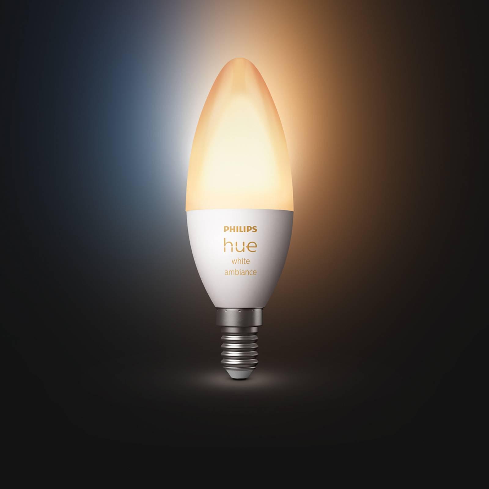 Philips Hue kynttilälamppu White Ambiance E14 5,2W
