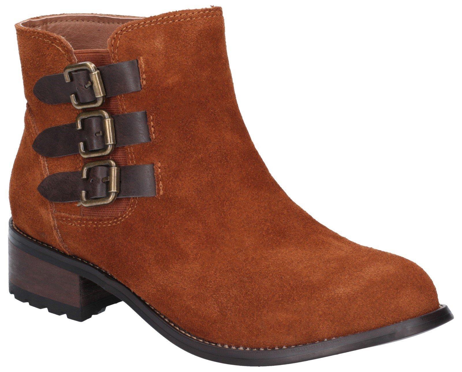 Divaz Women's Lexi Slip On Buckle Boot Black 27162-45641 - Tan 3