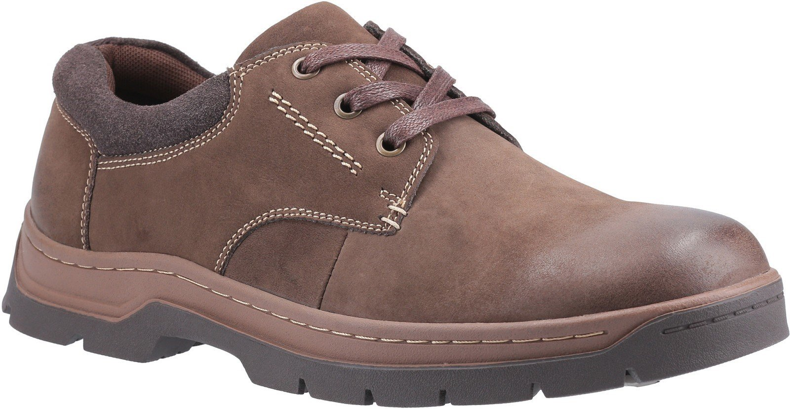 Cotswold Men's Thickwood Burnished Leather Derby Shoe Brown 28237 - Brown 7