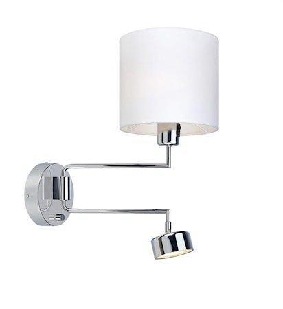 Thelma Vegglampe 2L Chrome/White