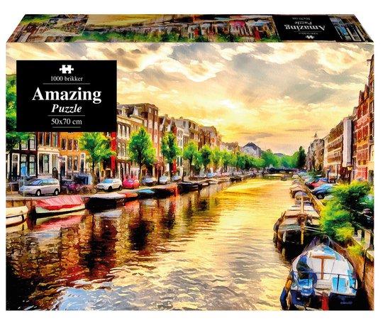 1play Amazing Puslespill Amsterdam, 1000 Biter