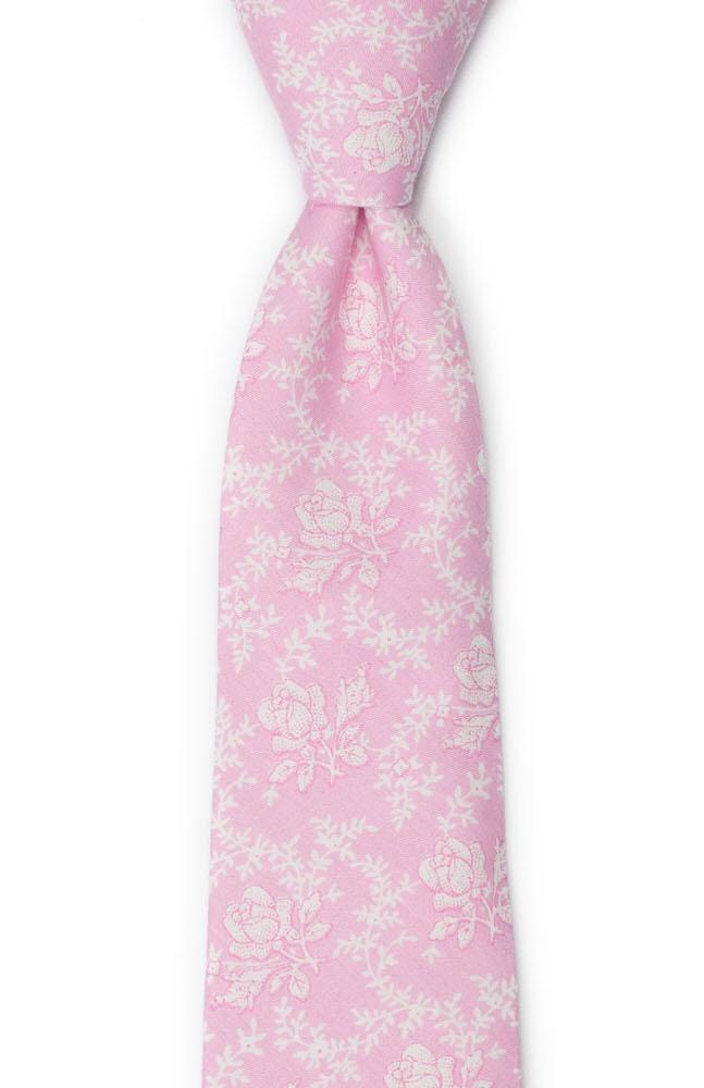 Bomull Slips, Lys rosa med hvite roser & vinranker, Rosa, Blomster