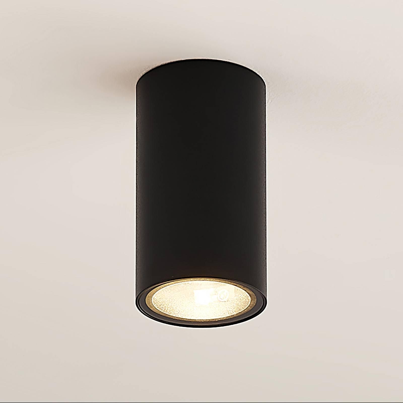 Arcchio Olivir -alasvalo, pyöreä, GU10, musta