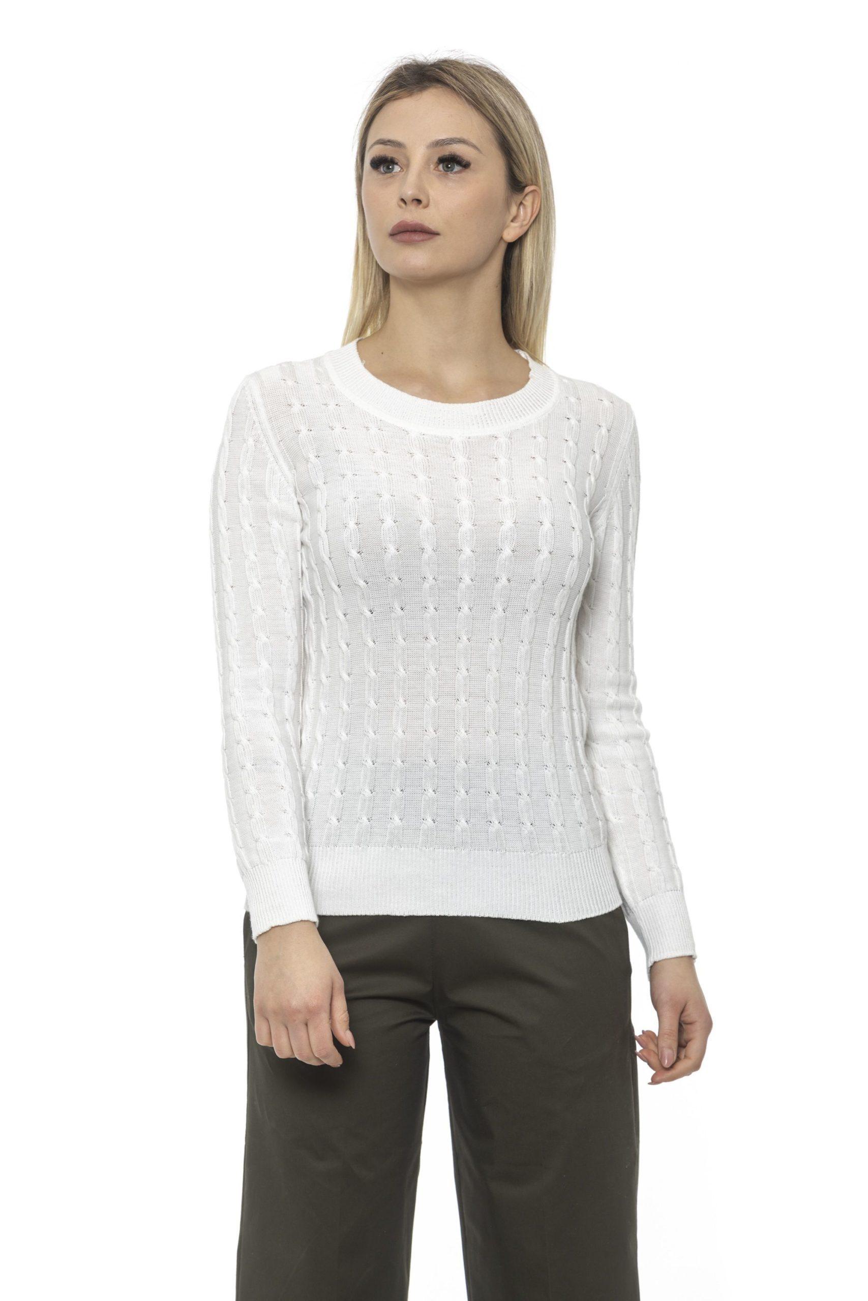 Alpha Studio Women's E C R U' Sweater White AL1375218 - IT40 | XS