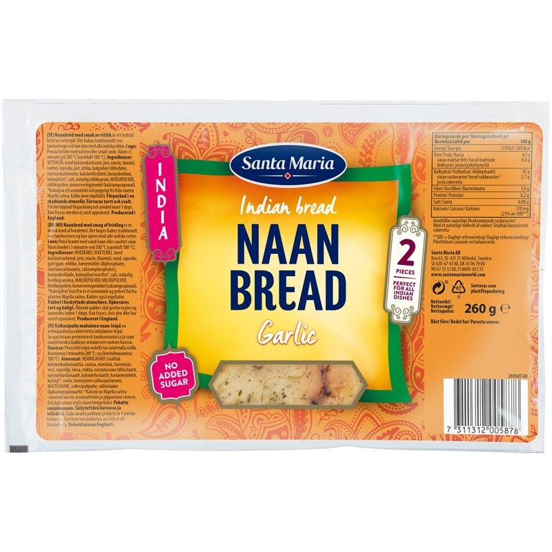 Naan-leipä Valkosipuli - 16% alennus