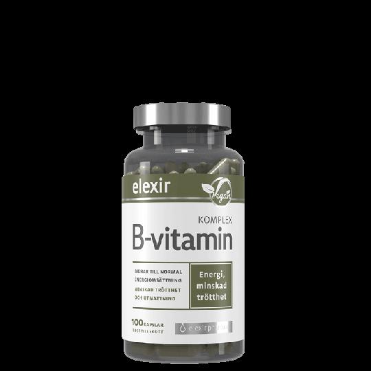 B-vitamin Komplex, 100 veg. kapslar