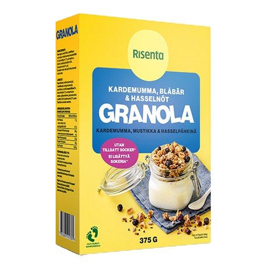 Granola Kardemumma, Mustikka & Hasselpähkinä - 23% alennus