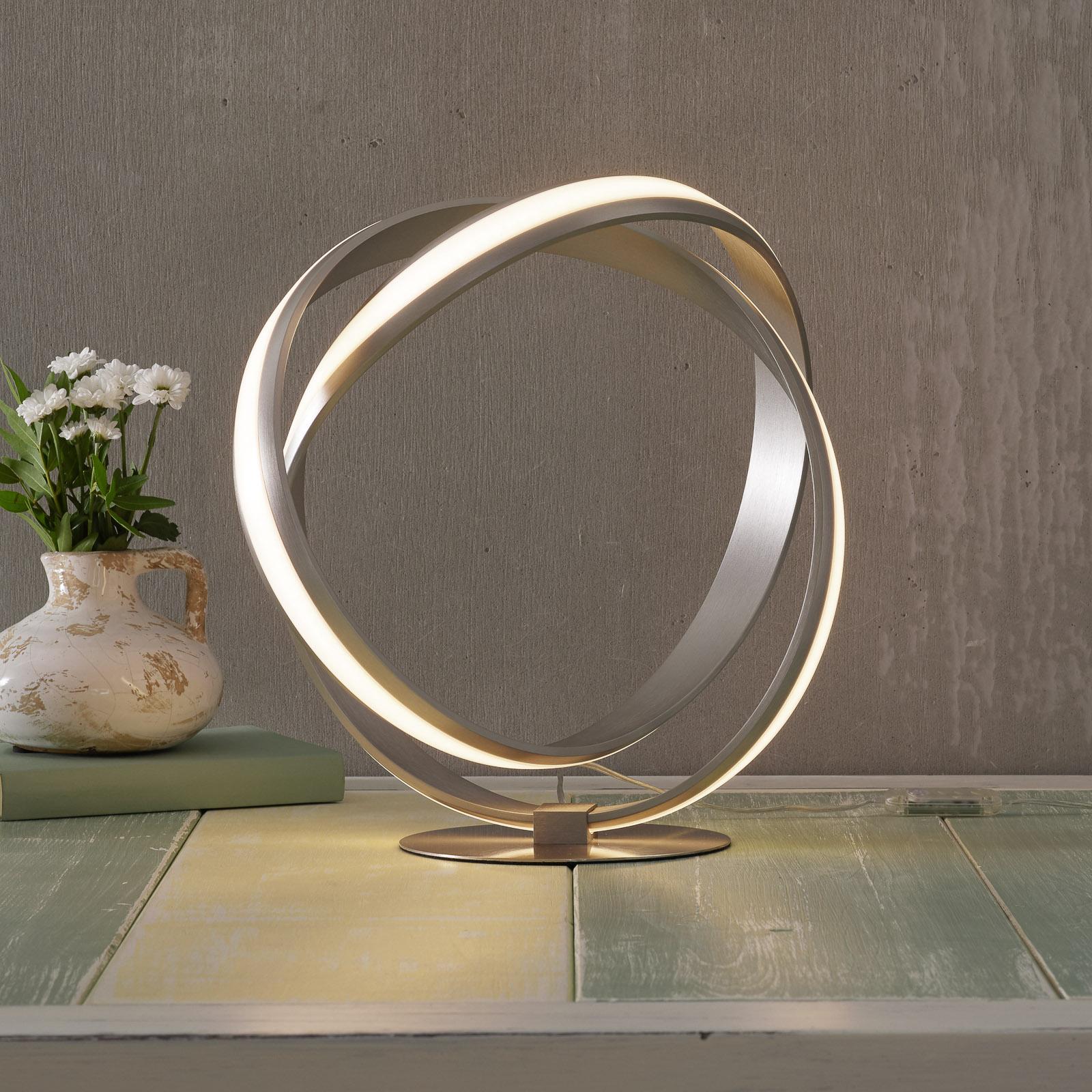LED-pöytälamppu Melinda naruhimmentimellä