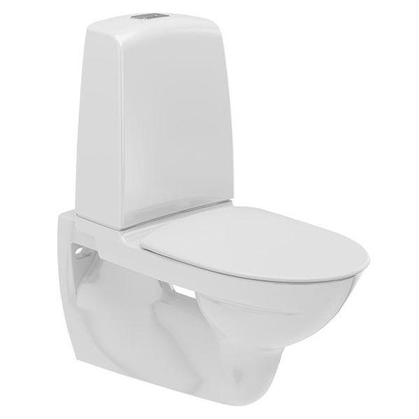 Ifö Spira 629308897 Toalettstol vegghengt, med mykt sete, enkeltspyling