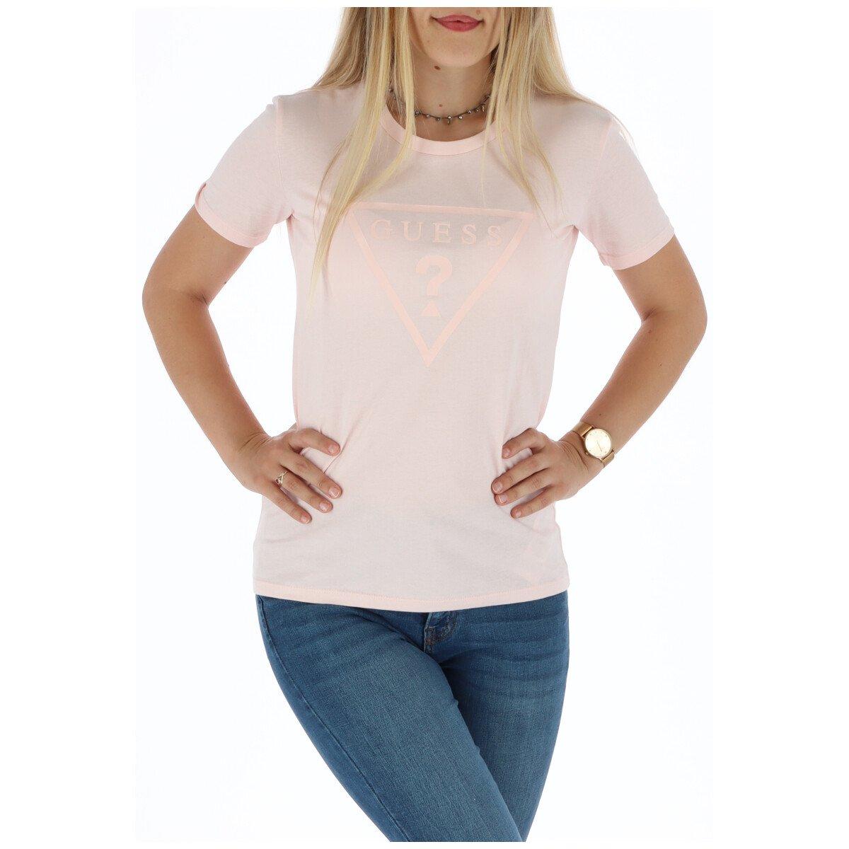 Guess Women's T-Shirt Pink 301096 - pink-1 XS