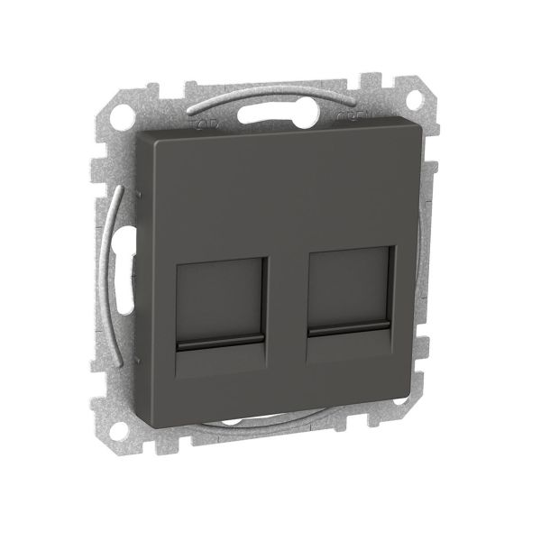 Schneider Electric WDE003379 Keskiölevy suora, reikäkuvio Antrasiittiharmaa