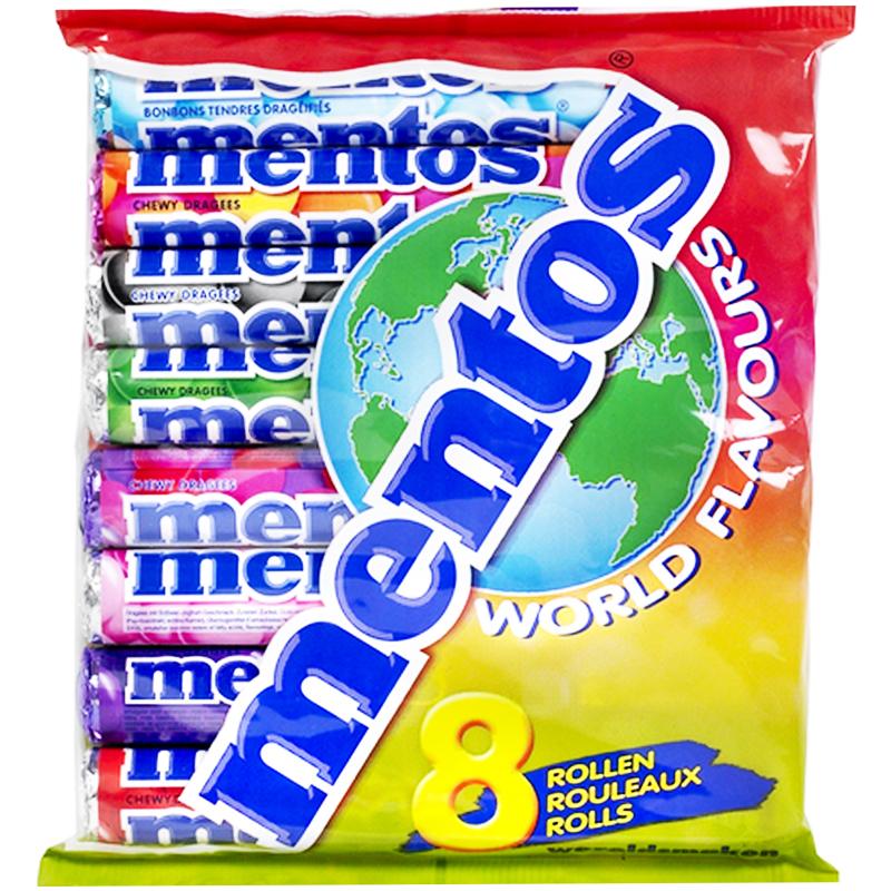 """Mentos """"World Flavours"""" 8 x 38g - 54% rabatt"""