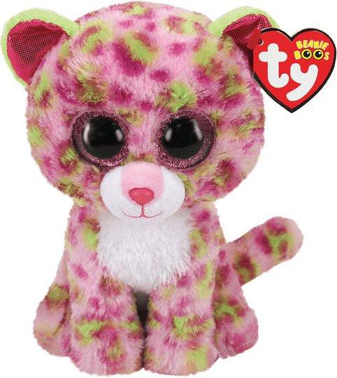 TY Kosedyr Lainey Leopard 23 cm, Rosa