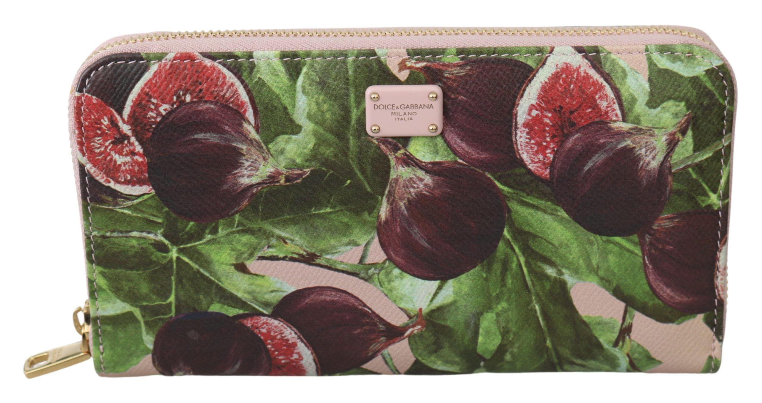 Dolce & Gabbana Women's Dauphine Leather Zipper Continental Wallet Multicolor VAS9707