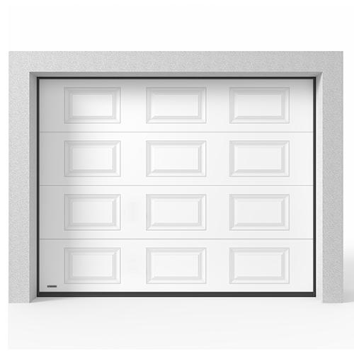 Garasjeport Leddport Moderne Struktur Hvit, 2500x2125
