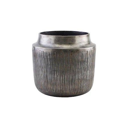Heylo Krukke/Vase Sølv Oksidert