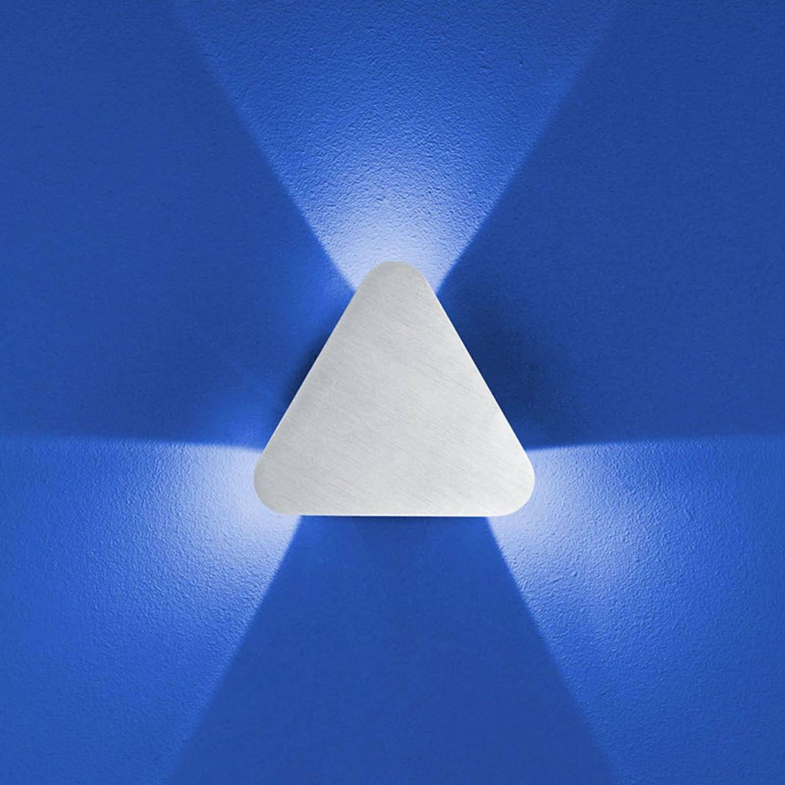B-Leuchten Prince vegglampe IP54, trekantet