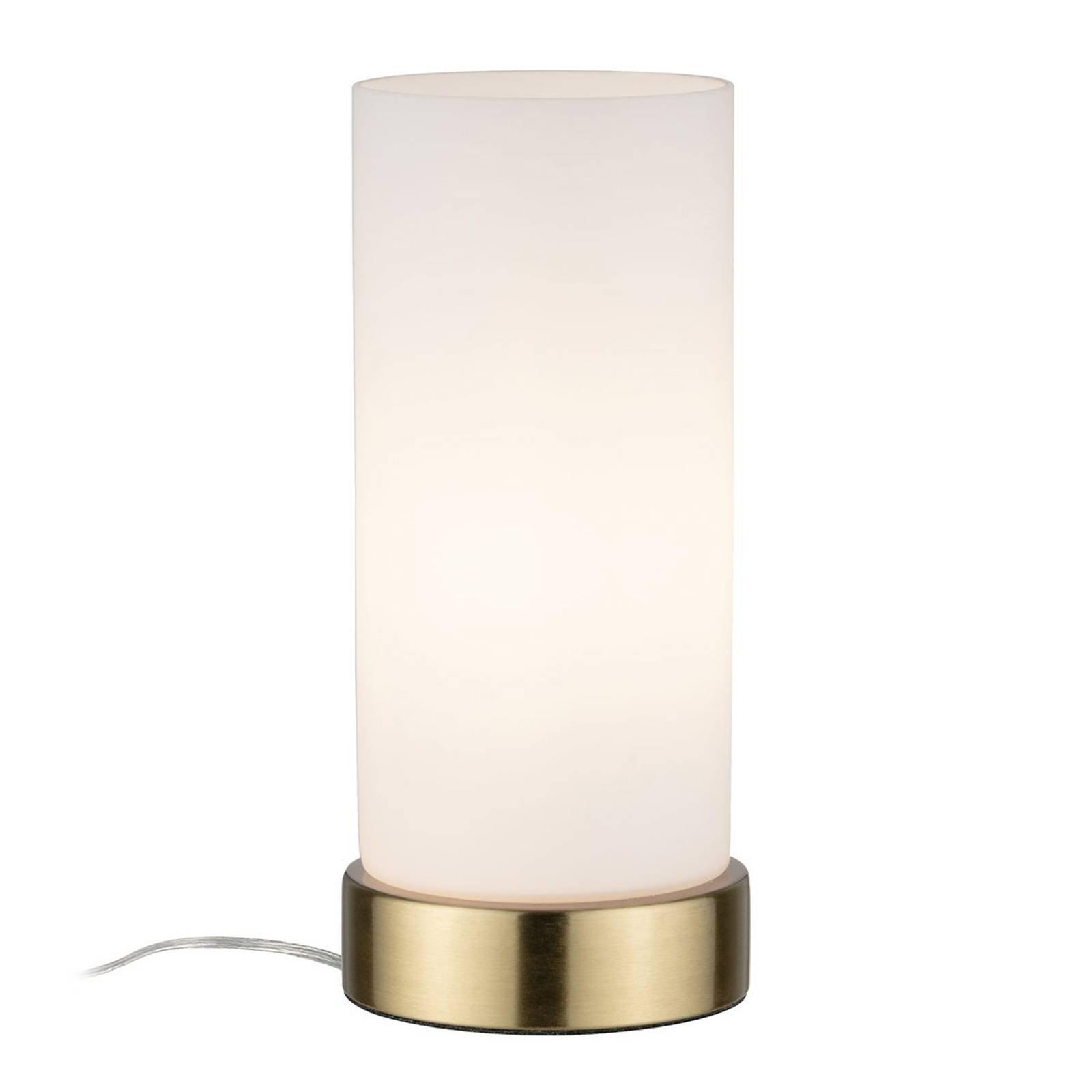 Paulmann bordlampe Pinja messing/opal