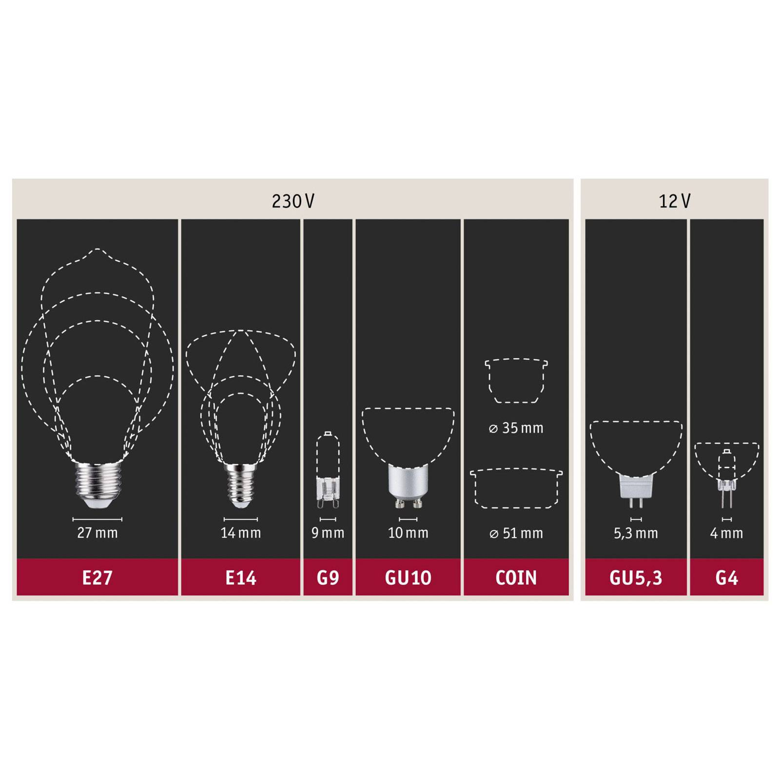 Paulmann-pin-halogeenilamppu G9 52W 2800K, 2 kpl