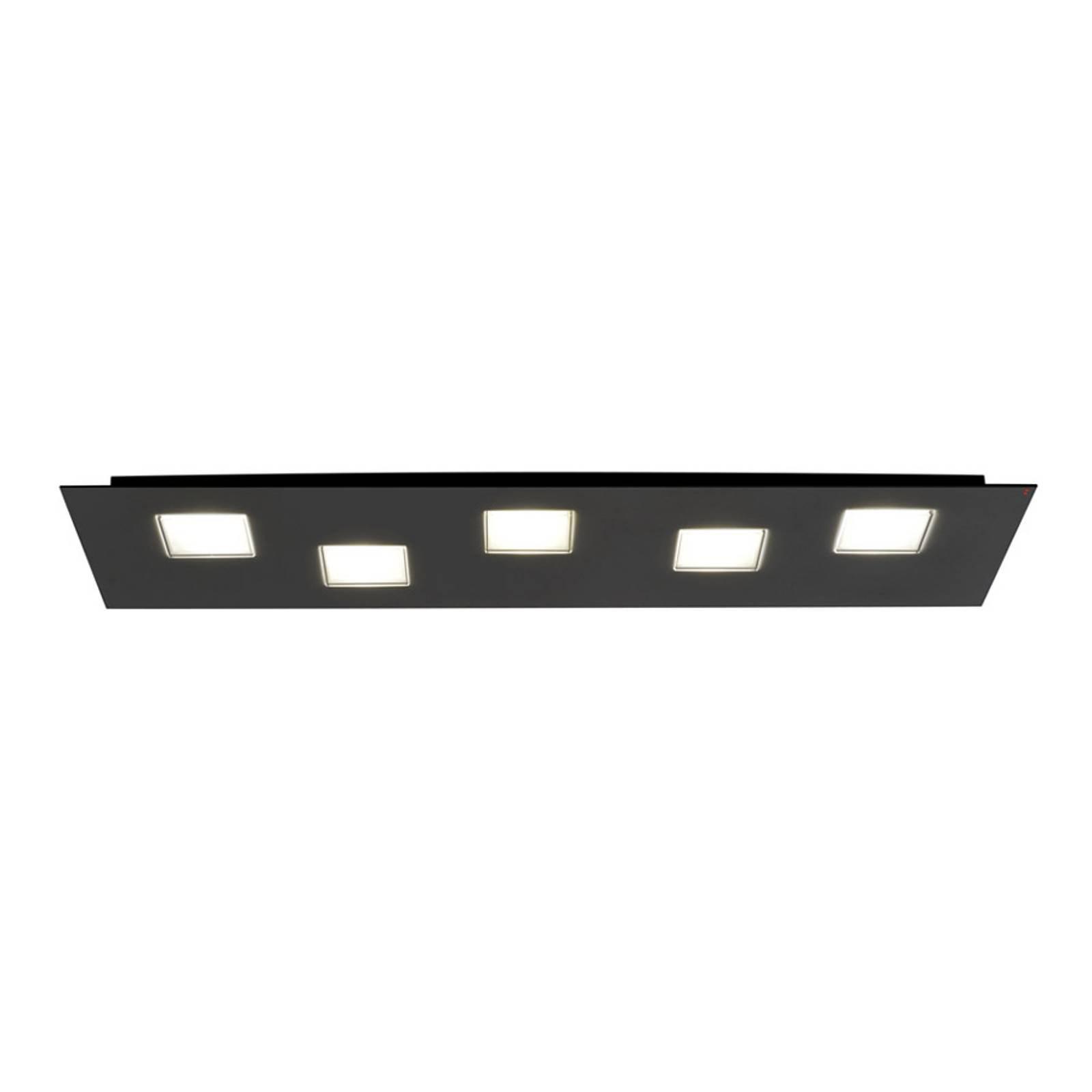 Fabbian Quarter - LED-taklampe 5 lyskilder, svart