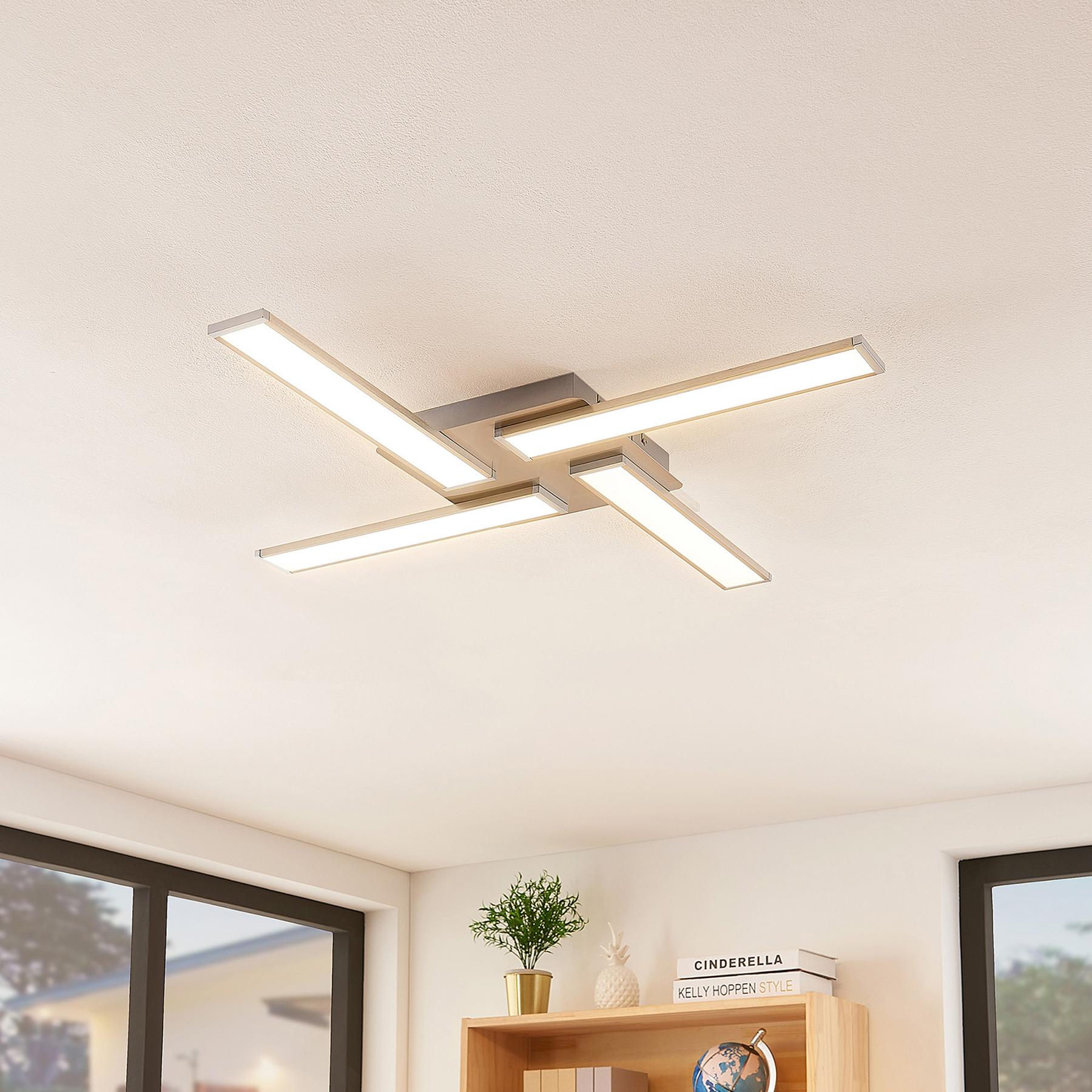 Lindby Smart Ibbe -LED-kattovalaisin, 4-lamppuinen